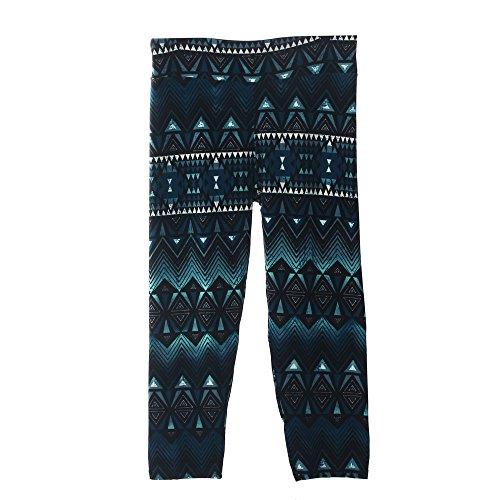 Haut Extensible Imprimées Amison De Yoga Femme Taille Foncé Pantalon Leggings Sport Vert Fleurs qq8I0O