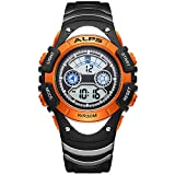 ALPS Kids Watch,Boys Girls,Outdoor,MultiFunction Digital LED Waterproof Sport Watch (Orange)