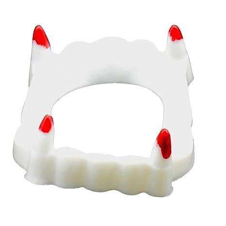 UEB Dentiera da Vampiro Denti da Vampiro Luminoso per Halloween ... 174a59c92561