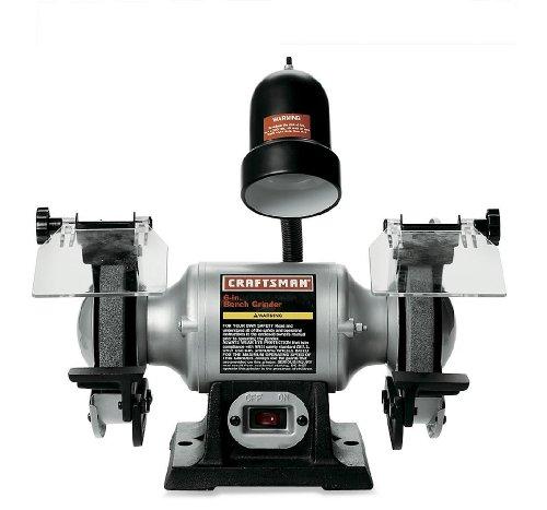 Craftsman 9-21124 1/6 Horsepower 6-Inch Bench Grinder with Lamp