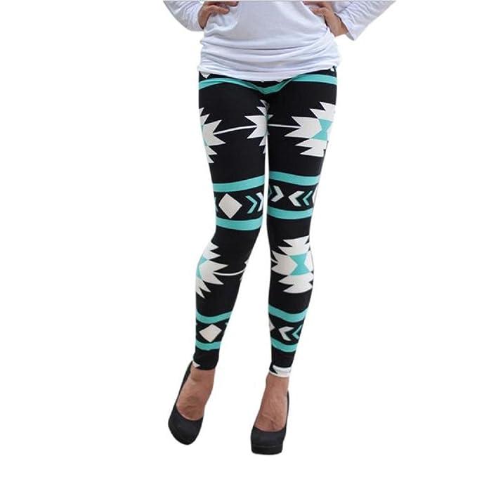 9d4b0214d02a2 Mallcat Leggings Women Pants Skinny Geometric Print at Amazon Women's  Clothing store: