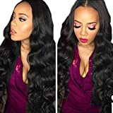 Myfashionhair 8''-30'' Top 5A Unprocessed Brazilian Virgin Hair Body Wave Hair Extensions Wefts 1B Natural Black Especially Suit for Styled 100g/pc (12'')