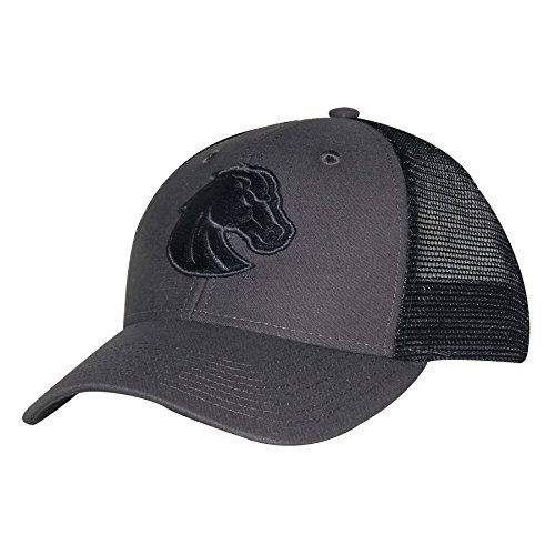 Ouray Sportswear NCAA Boise State Broncos Industrial Canvas Mesh Cap, Adjustable Size, Grey/Black/Grey
