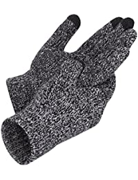 Winter Unisex Knitted Touchscreen Gloves One Size