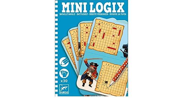 Djeco - Mini-logix hundir la Flota: Amazon.es: Juguetes y juegos