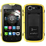 AMA(TM) 4.0'' Kenxinda Proofings W5 4G LTE Smartphone - Unlocked GSM Android 5.1 Octa Core 1G/8G Dual SIM Dual Standby Bluetooth 4.0 GPS Android Phone (Yellow)