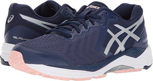 Gel Runners Asics (ASICS Women's Gel-Foundation 13 Running Shoes (7.5 B(M) US, Indigo Blue/Silver/Seashell Pink))
