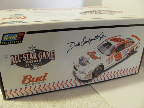 Jr #8 Major League Baseball Budweiser All Star Game Special Paint Scheme (Won Daytona Summer Race in 2001 in same Year his father died at Daytona) 1/24 Scale Diecast Hood Opens, Trunk Opens HOTO Revell Collection Limited Edition With Certificate of Authenticity COA ()