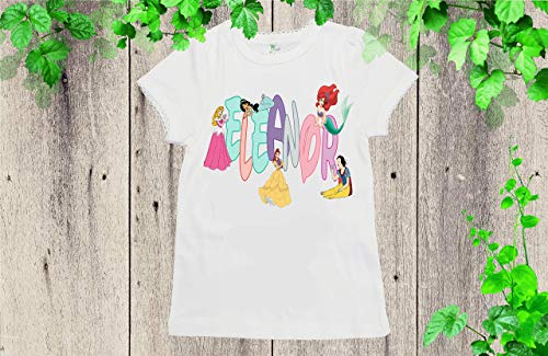 Disney Custom birthday shirt Disney princess Name shirt ()