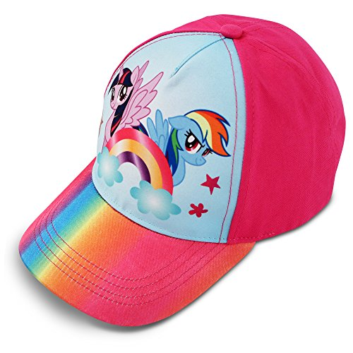 Hasbro Little Girls My Little Pony Character Cotton Baseball Cap, Rainbow Dash, Age 4-7 (Baseball Hat Accessories)