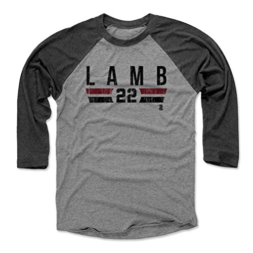 (Jake Lamb Baseball Tee Shirt XX-Large Black/Heather Gray - Arizona Baseball Raglan Shirt - Jake Lamb Arizona Font)