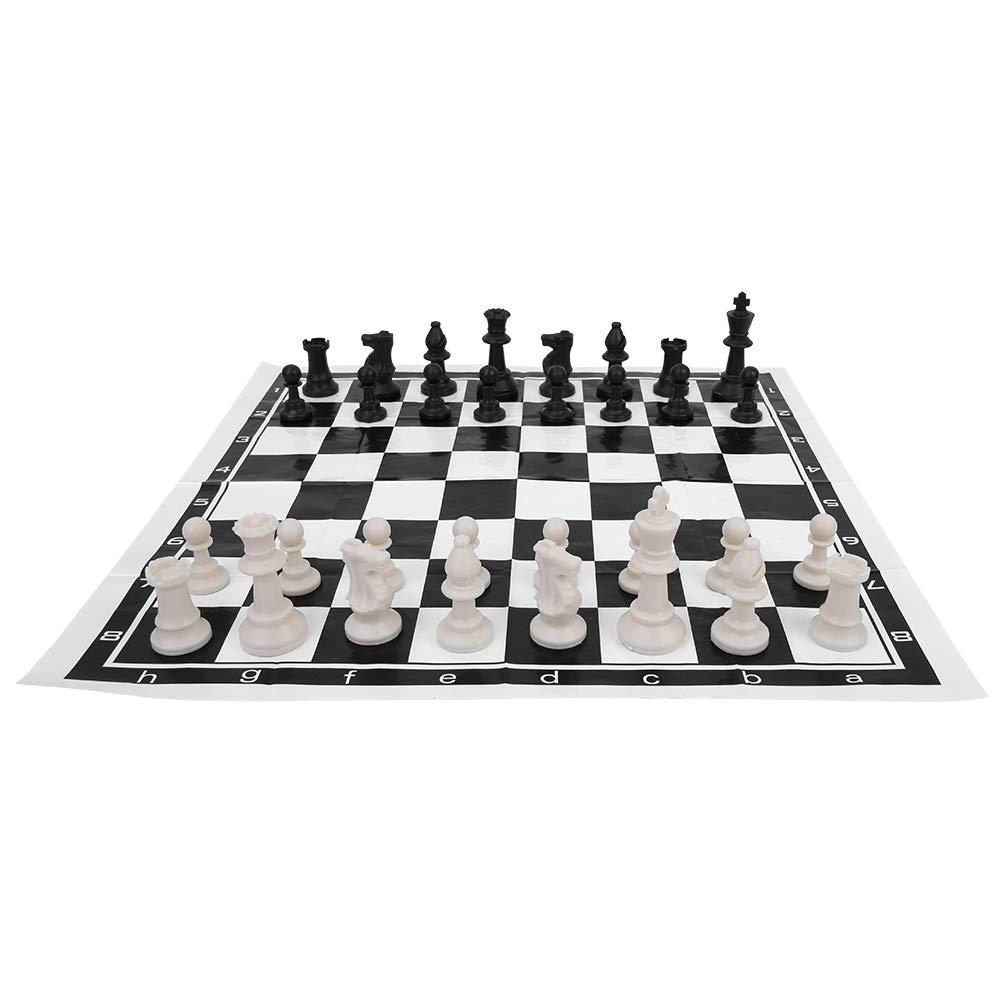 Alomejor International Chess Foldable Chess International Board Game Entertainment Juego de ajedrez Completo con Tablero Plegable para Entretenimiento en Interiores al Aire Libre
