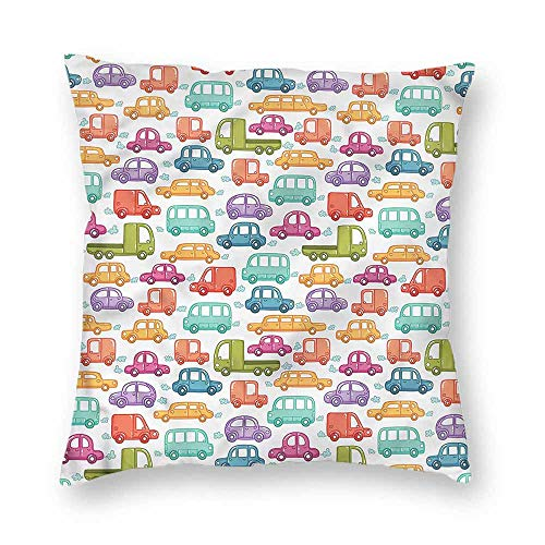 Mannwarehouse Cars Breathable Pillowcase Vibrant Doodle for sale  Delivered anywhere in Canada