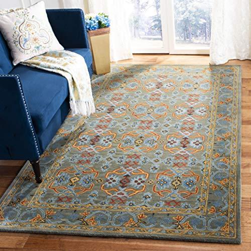 Safavieh Heritage Collection Premium Wool Area Rug, 5 x 8 , Sage Blue