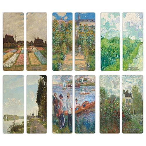Creanoso Famous Classic Art Series 5 Bookmarks (30-Pack) - Van Gogh, Claude Monet, Auguste Renoir - Inspiring Classical Art Set - Great Bookmarker Collection for Men, Women, Teens, Artists