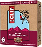 Clif Bar Energy Bar, Berry Pomegranate Chia, 6 Count