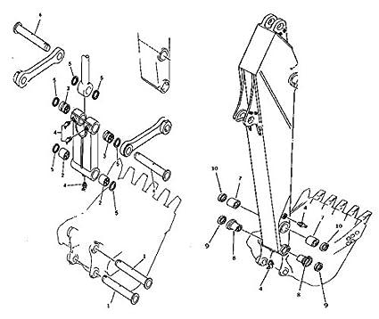 Amazon Com Komatsu Bucket Pin Bushing Kit For Excavator Pc200 3