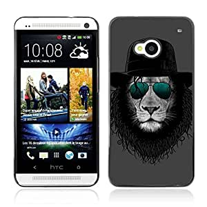 A-type Colorful Printed Hard Protective Back Case Cover Shell Skin for HTC One (M7) ( Cool Michael Jackson Lion ) by Maris's Diary