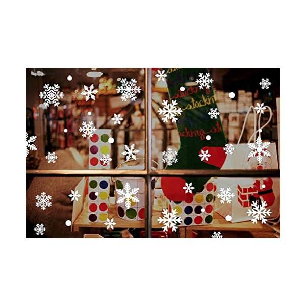 216 Vetrofanie Fiocchi di Neve per Natale, Fiocco di Neve Stickers da Vetro Finestra Vetrina Natale Decorazione - Fantastiche Adesivi Statici in PVC 4 spesavip