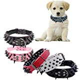 Mikey Store Durable Leather Collar, Sharp Spiked Studded Collar for Large Pet Dog