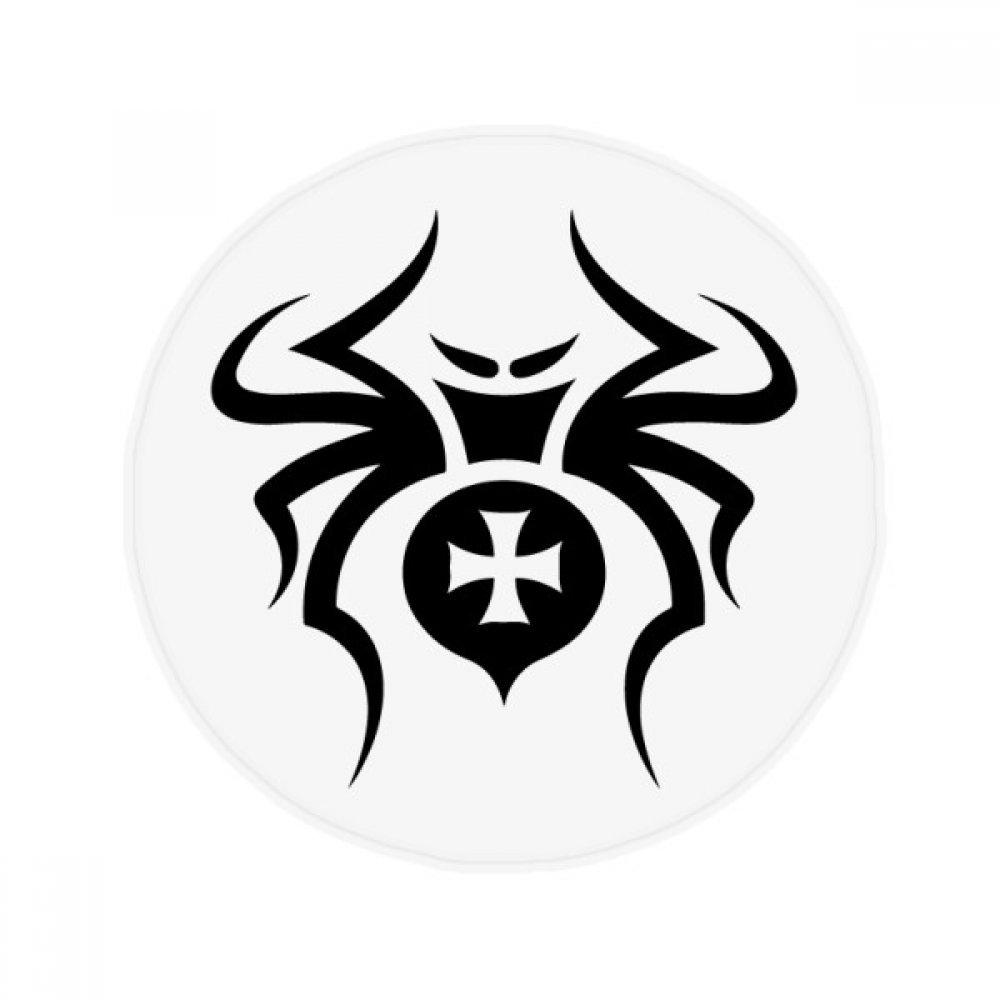 60X60cm DIYthinker Black Insect Spider Pattern Illustration Anti-Slip Floor Pet Mat Round Bathroom Living Room Kitchen Door 60 50Cm Gift