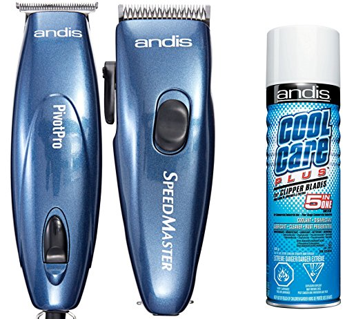 Andis LIGHTWEIGHT Men's Hair Clippers and Hair T-BLADE Trimmer Combo Set with BONUS FREE Andis Cool Care Plus Clipper Blade Cleaner by Andis