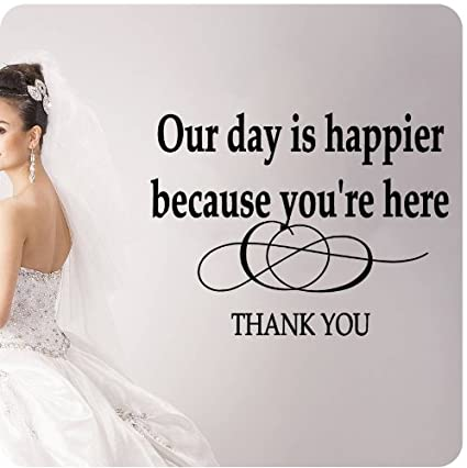 Amazon Our Day Is Happier Because You Are Here Thank You Wall