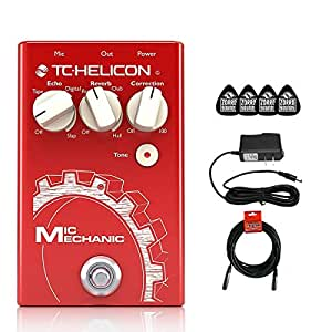 tc helicon mic mechanic 2 vocal effects pedal with reverb delay pitch correction. Black Bedroom Furniture Sets. Home Design Ideas