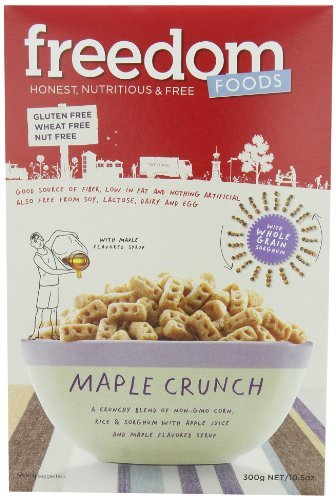 Freedom Foods Ultra Maple Rice Crunch, 10.5 Ounce Boxes (Pack of 5) by Freedom Foods by FREEDOM FOODS