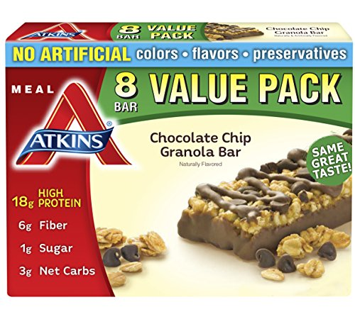 Atkins Meal Bar, Chocolate Chip Granola, 8 Bars