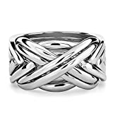 84SM Sterling Silver Puzzle Ring