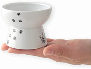 Necoichi Raised Cat Food Bowl, Stress Free, Backflow Prevention, Dishwasher and Microwave Safe, Made to EC & ECC European Standard