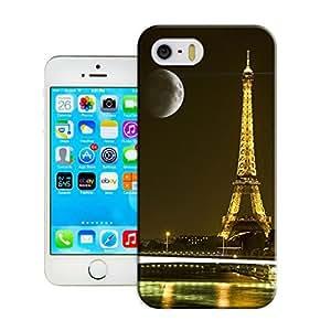 LarryToliver Custom iphone 5/5s Theme Phone Case Customizable Eiffel Tower Hard Plastic Shell Case Cover