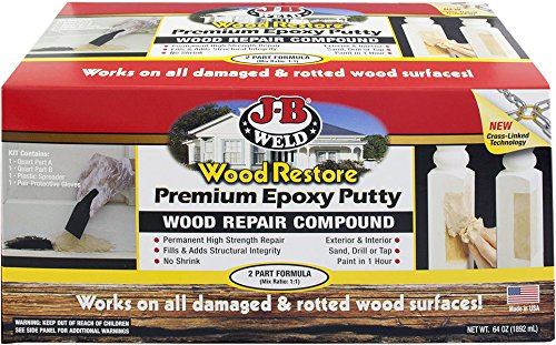 - J-B Weld 40007 Wood Restore Premium Epoxy Putty Kit - 64 oz.