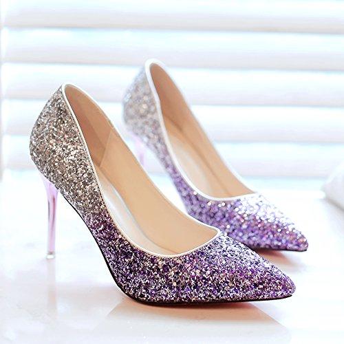 matrimonio cristallo scarpe gradiente con di signora matrimonio scarpe la Il scarpe yaYcv