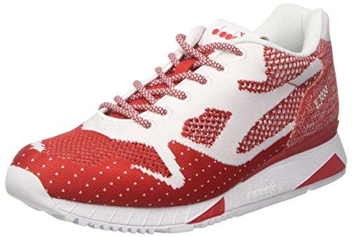 Diadora V7000 Weave II, Sneaker Uomo Rosso (Rosso Borealebianco)