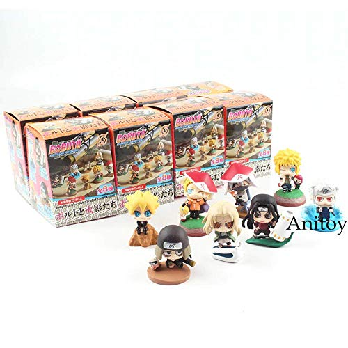- Boruto: Naruto Next Generations Action Figure Shodai Senju Hiruzen Minato Tsunade Kakashi Naruto Boruto Toys Keychain 4-6cm (with Box (A))