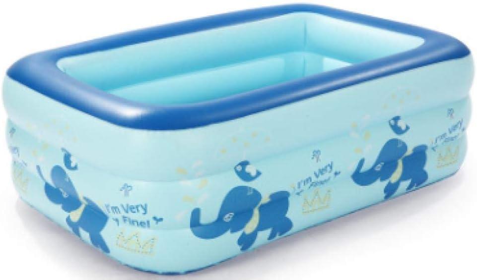 Estructura fácil de colocar piscina salón familiar piscina infantil inflable rectangular 130 * 95 * 55 azul, niños, adultos, patio trasero, interior y exterior, enviar bomba eléctrica inflable: Amazon.es: Jardín