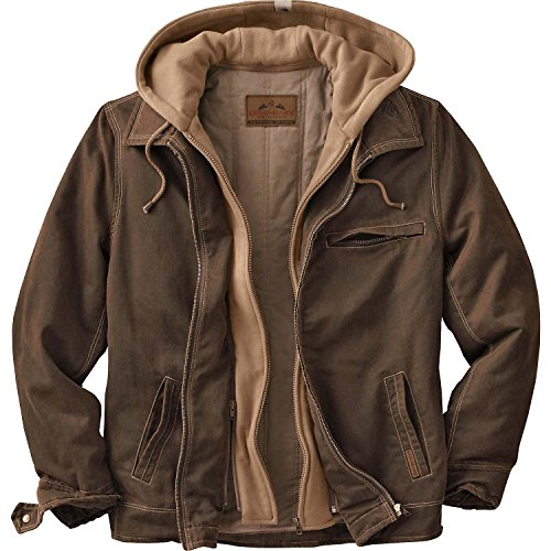 Legendary Whitetails Men's Rugged Brown Full Zip Dakota Jacket (Brown, Large)