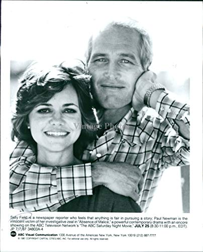 1987 Wire Photo Actress Sally Field Paul Newman Celebrities Absence Malice 7X9
