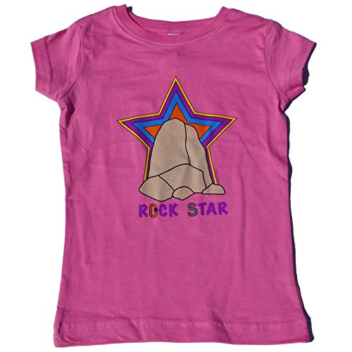 ZippyRooz Girls Toddler & Little Kids Rock Climbing Tee Shirt Rock Star (3T)