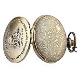 Vintage Copper Kids Gift Analog Quartz Pocket Watch with Chain