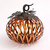 GIL 2376570 13 D Metal Harvest Pumpkin Christmas, 12.5InL x 12.5InW x 13InH, Multicolor
