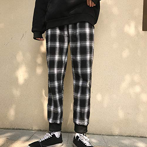 Da Pantaloni Ghette Reticolo Nero Donna Casuale Moda Pantaloni Magro Unisex fX7B8dfxq