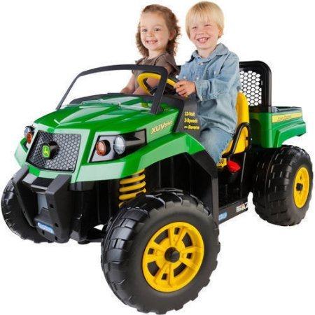 Peg Perego IGOD0063 John Deere Gator XUV 12-volt Battery-Powered 4.5 Mph Speed, 130 Pounds Weight Capacity Ride-On