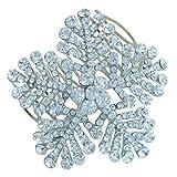 Sindary Wedding Hair Accessory 2.56'' Bridesmaid Bridal Flower Hair Comb Clear Austrian Crystal HZ8802