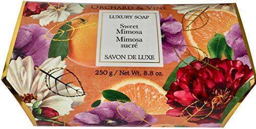 Orchard & Vine Luxury Bath Cleanser Plant Based All Natural Soap 8.8 Ounce Bar (Sweet Mimosa) ()