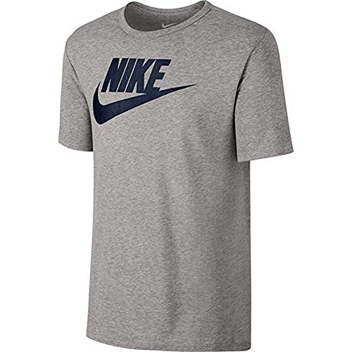 Nike Men's Sportswear Futura Icon T-Shirt (Small, Charcoal Heathr/Black)