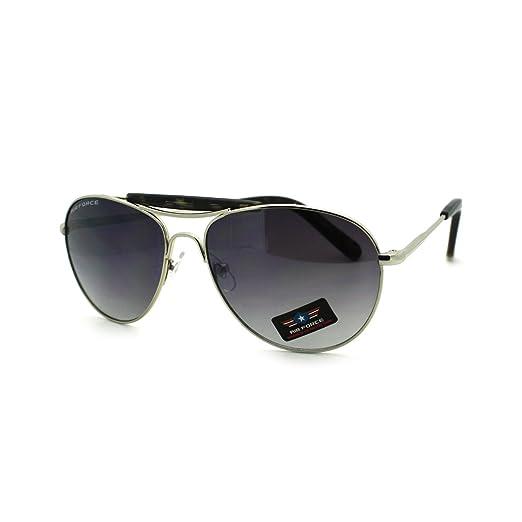 fb08545c5e Unisex Aviators Vintage Top Bar Round Aviator Sunglasses Silver Black Tort