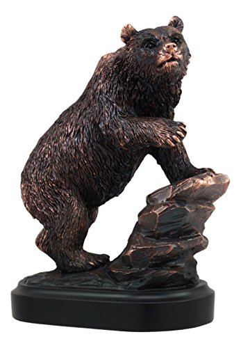 (Ebros Grizzly Bear Climbing On River Rock Statue 6.25